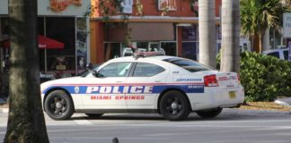 Miami Springs Police Car on the Circle