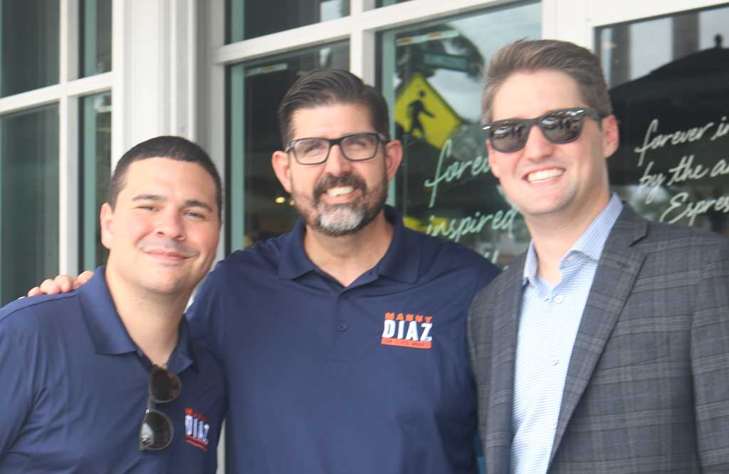 Former Golden Hawk:  Senator Manny Diaz, Jr. outside Ceviches by Divino in Miami Springs