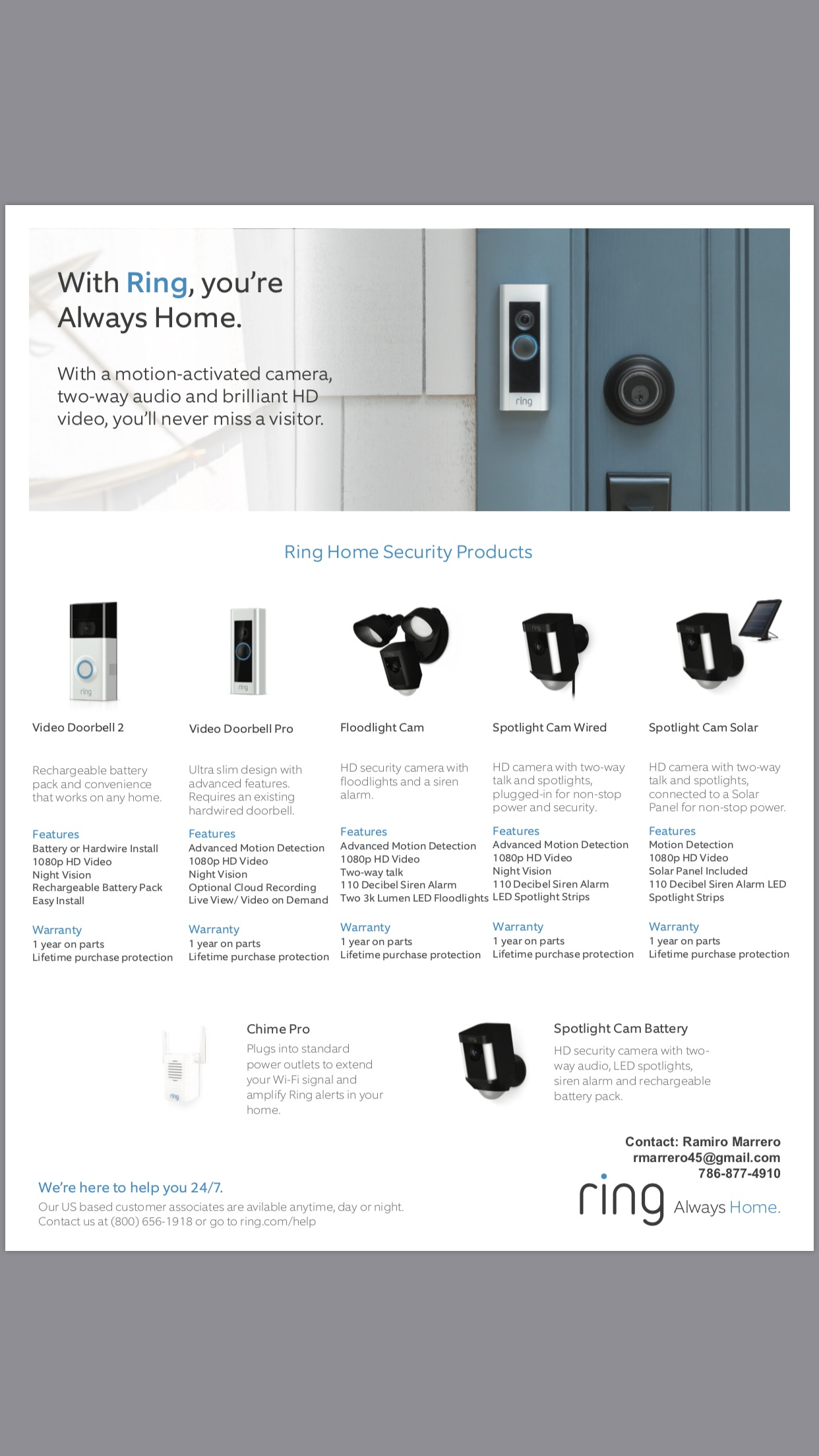 Ring Doorbell Exclusive Discount is waiting for you!