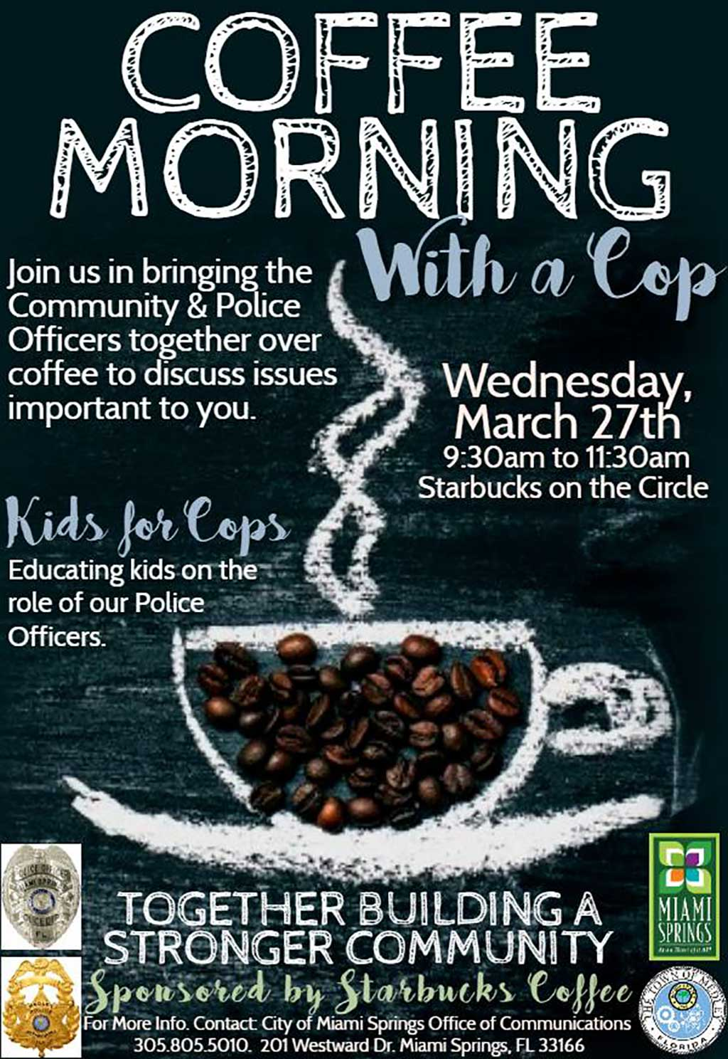 Coffee with a Cop - MiamiSprings com | Miami Springs News