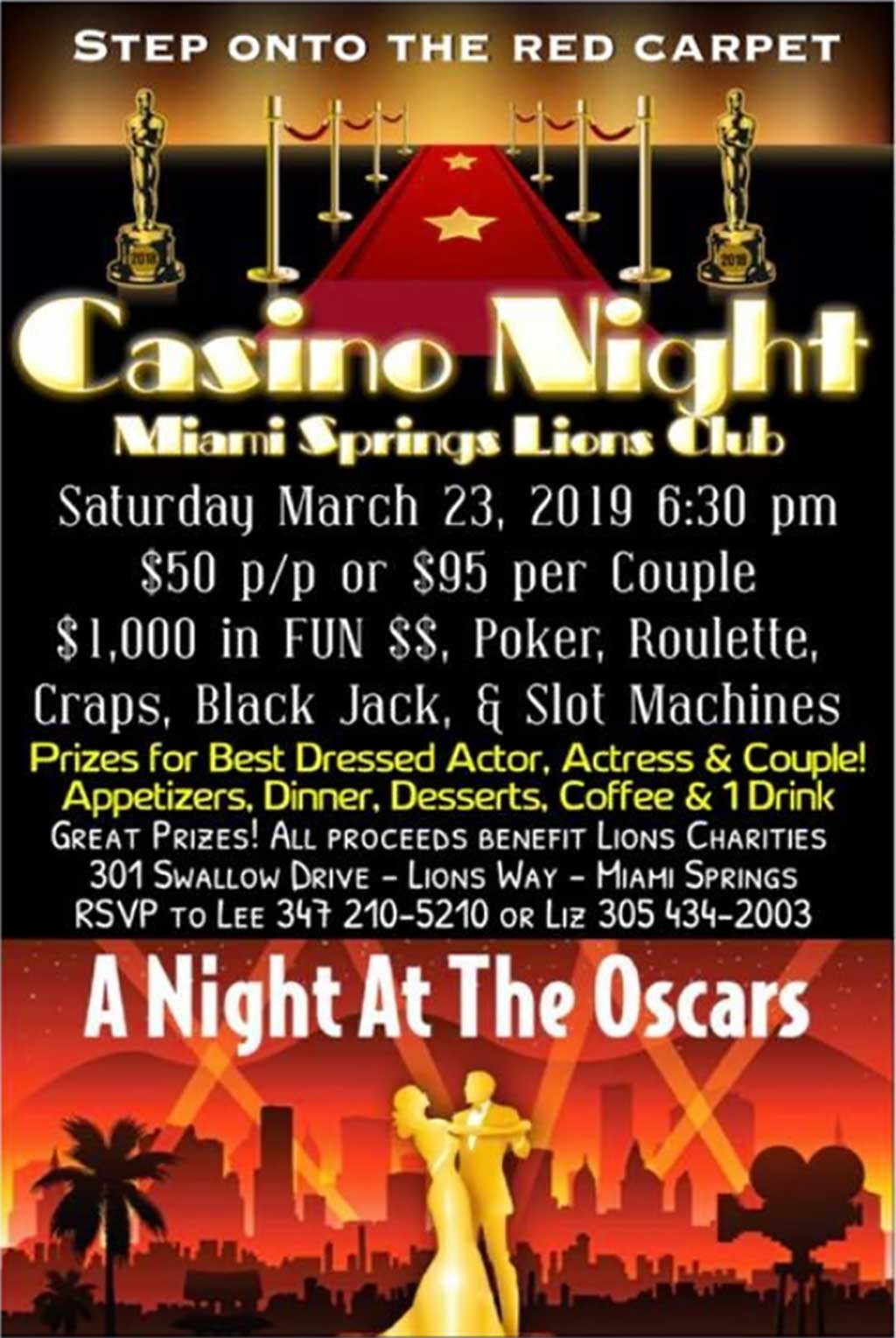 Casino Night at the Lions Club - MiamiSprings com | Miami
