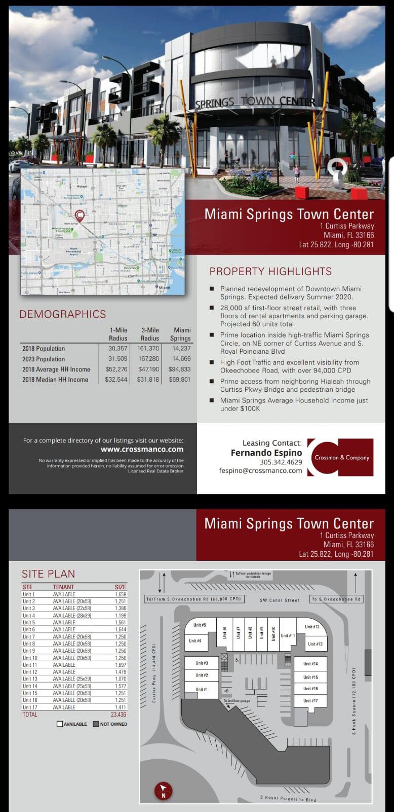 Miami Springs Town Center Flyer