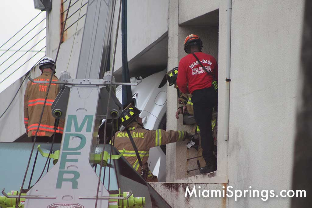 CRASH: SUV Dangling from Miami Springs Parking Garage - MiamiSprings com |  Miami Springs News and Events