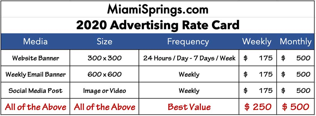2020 Advertising Rate Card