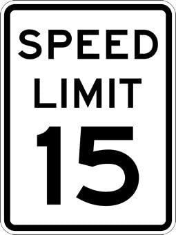 15 Mile Per Hour Speed Limit