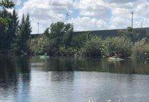 Kayakers Fishing on the Ludlam Canal