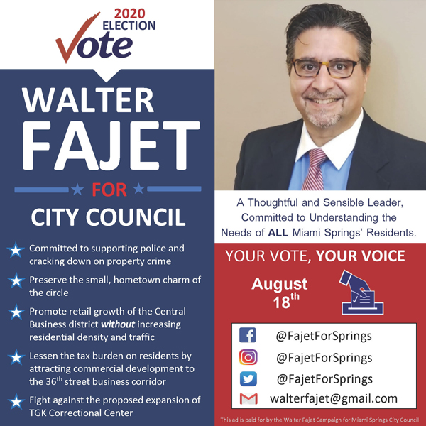 Walter Fajet for City Council Group III