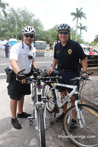 Chief Guzman helped to lead a community bike ride for charity.