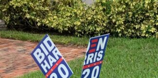 Broken Biden Sign