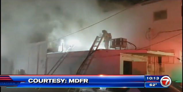 Fire on NW 36th Street courtesy WSVN
