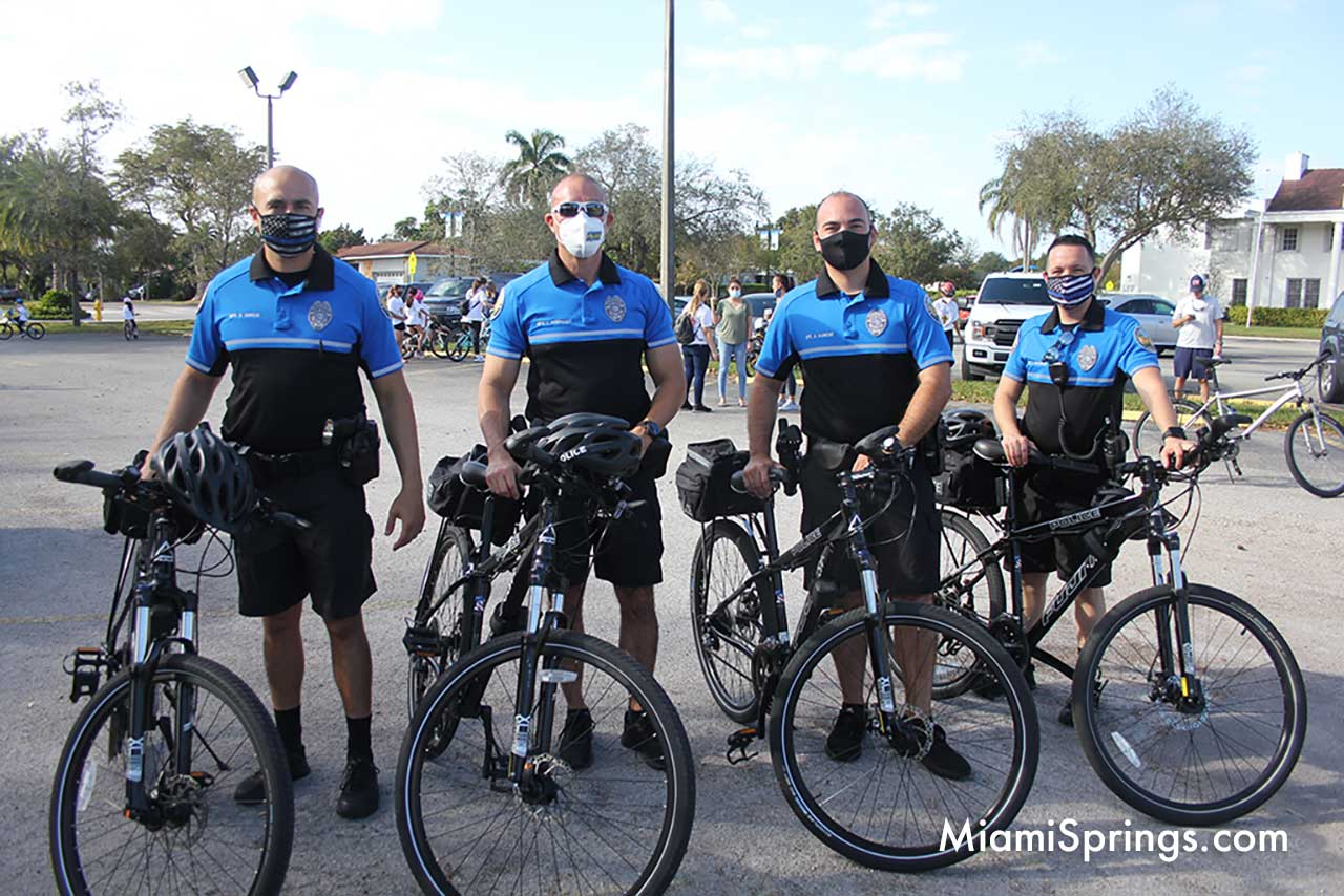 Thank you. to the Miami Springs Police Department for helping us with the 2021 Blessed Trinity. Bike Ride.