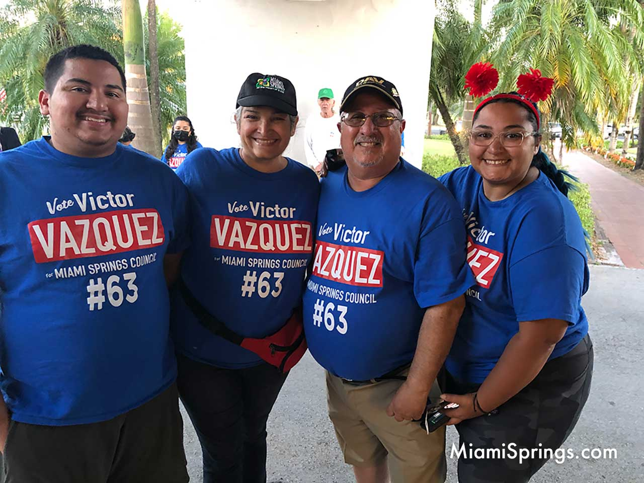 Councilman Victor Vazquez with his family.