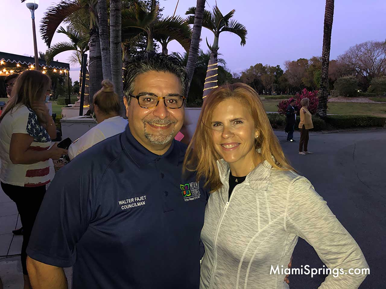 Councilman Dr. Walter Fajet with his wife.