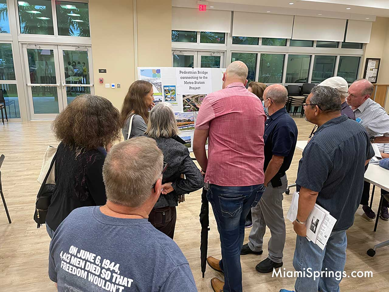 Residents expressed their concerns over adding a pedestrian bridge to the MetroRail.