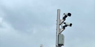Automated License Plate Reader (ALPR) located at Curtiss Parkway and Canal Street in Miami Springs
