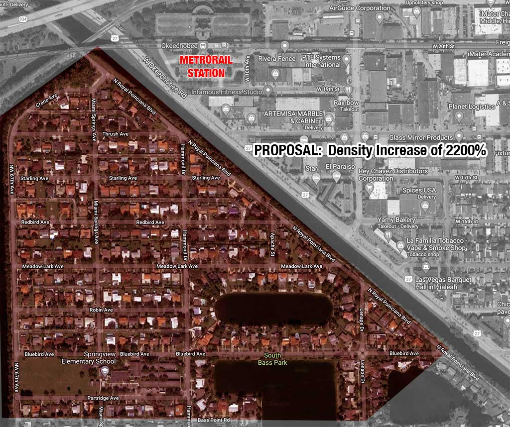 Proposal would increase density in Miami Springs by up to 2,200%!