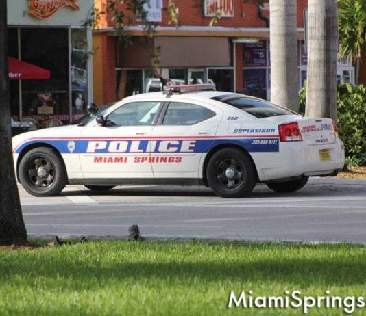Miami Springs Police Car on the Circle