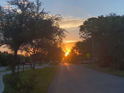 Sunset over Miami Springs