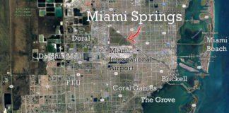 Miami-Dade Map Featuring Miami Springs