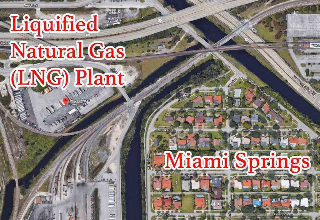 LNG Plant Next to Miami Springs