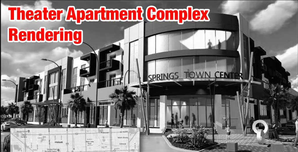 New Theater Apartment Complex Rendering