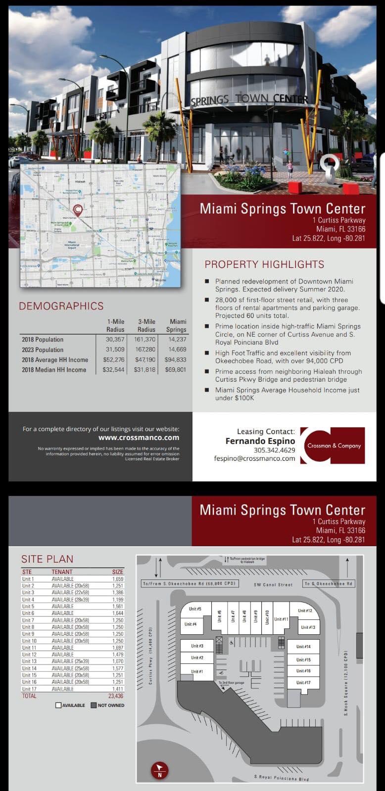 Miami Springs Town Center Flyer