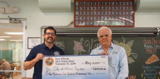 Manny Diaz Jr presents $1.6mm Check