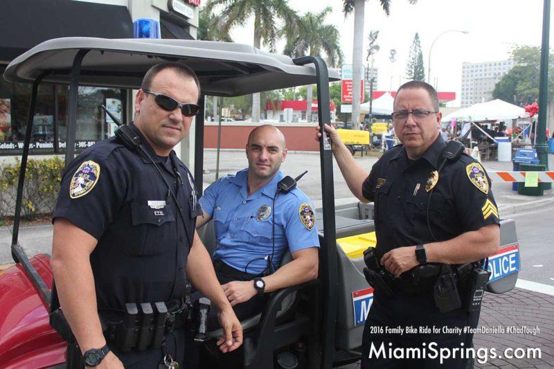Miami Springs Lieutenant Nuñez at the River Cities Festival