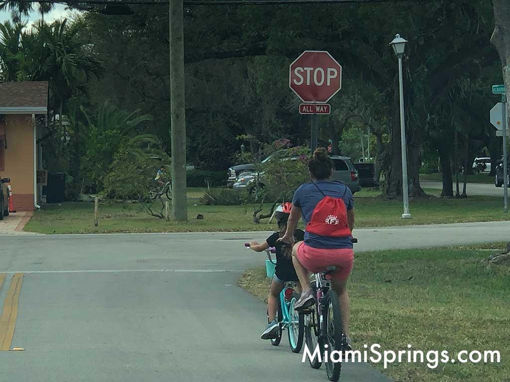Biking on Oriole Avenue