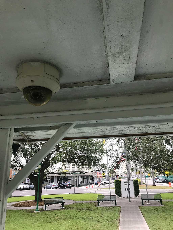 Camera at the Miami Springs Gazebo