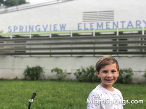 Sebastian at Springview Elementary in Miami Springs
