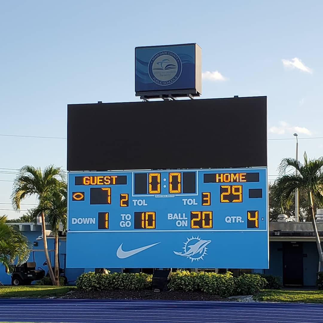 Miami Springs Senior High Football (Photo Courtesy Miami Springs Senior High Twitter @mssh_hawks)