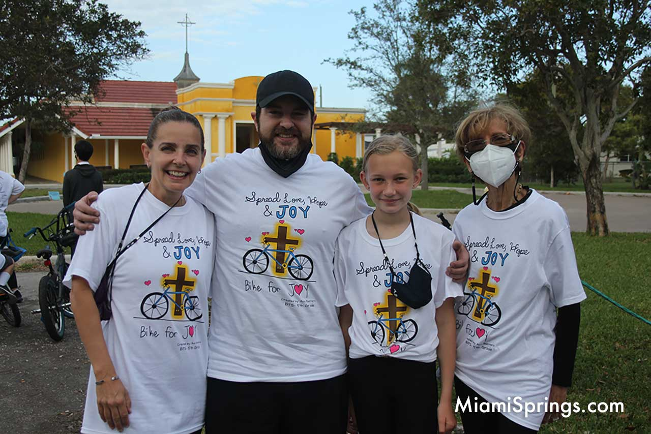 Barrera Family at the Blessed Trinity Bike Ride.