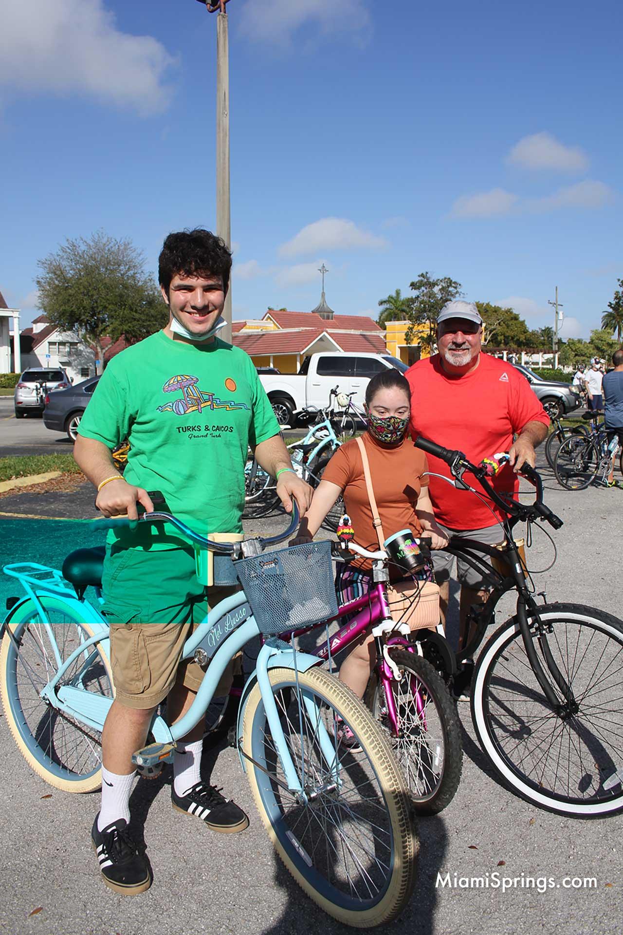 Varela Family at the 2021 Blessed Trinity Bike Ride through Miami Springs