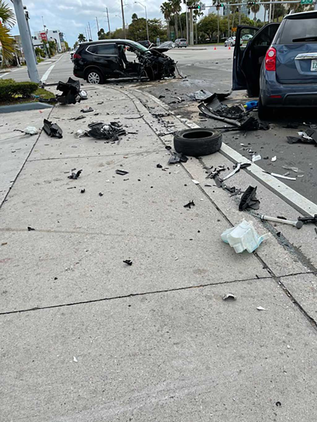 NW 36th Street Accident at Curtiss Parkway