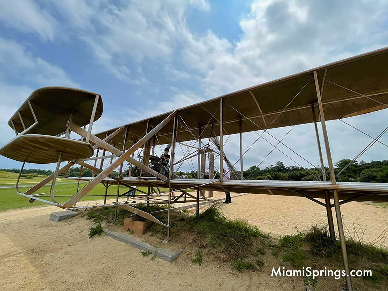Outdoor Metal Replica of the Wright Flyer at Kitty Hawk, NC