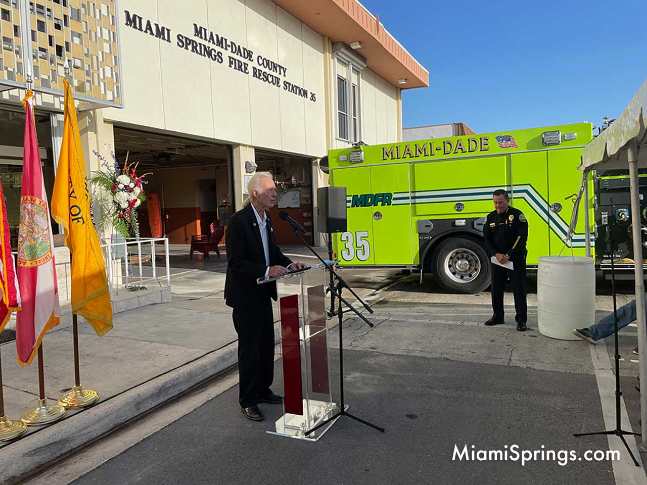 Miami Springs Councilman Bob Best at September 11 Ceremony