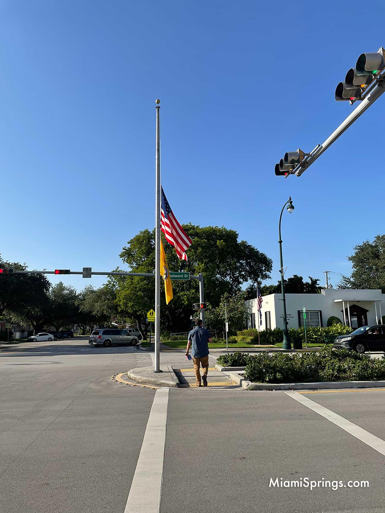 Flag at Half Mast During September 11 Ceremony