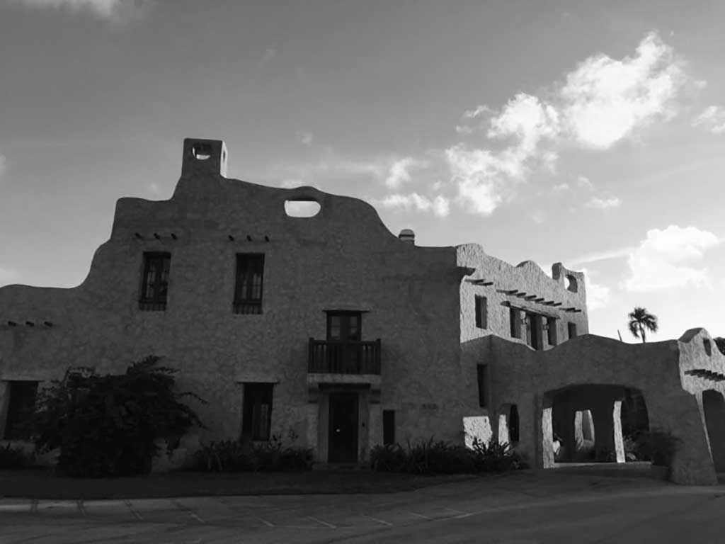 Curtiss Mansion Black and White
